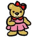 Medvědí holčička - nažehlovačka