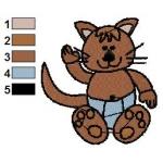 Kotě - autorská výšivka
