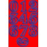 Aplikace - nažehlovačky písmena 10 cm