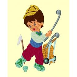 Malý golfista - autorská výšivka