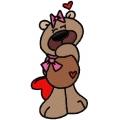 Medvědí holka - autorská výšivka