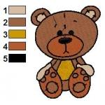 Medvídek autorská výšivka
