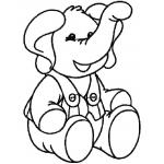 Slon - autorská výšivka