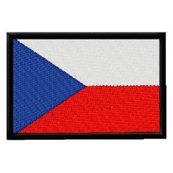 Česká vlajka větší - nášivka